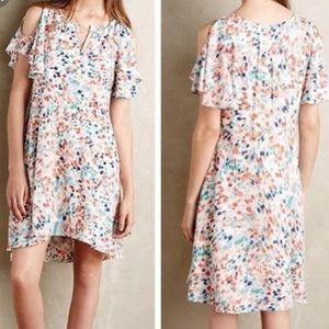 Maeve fluttered watercolor dress